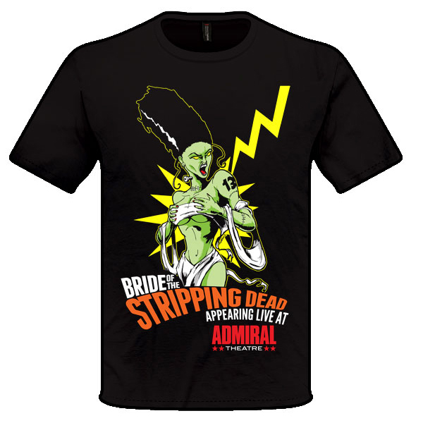 Bride of the Stripping Dead Shirt Design