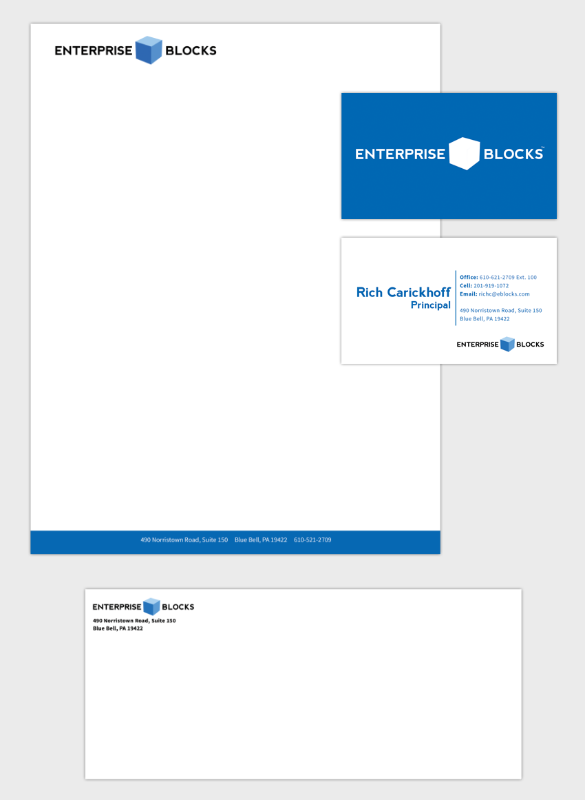 Enterprise Blocks - Logo Design and Stationary