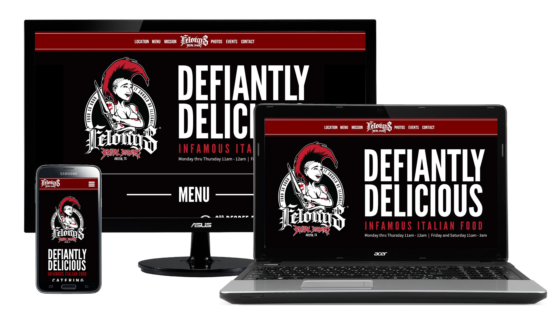 Felony's Brutal Beastro - Responsive Website Design