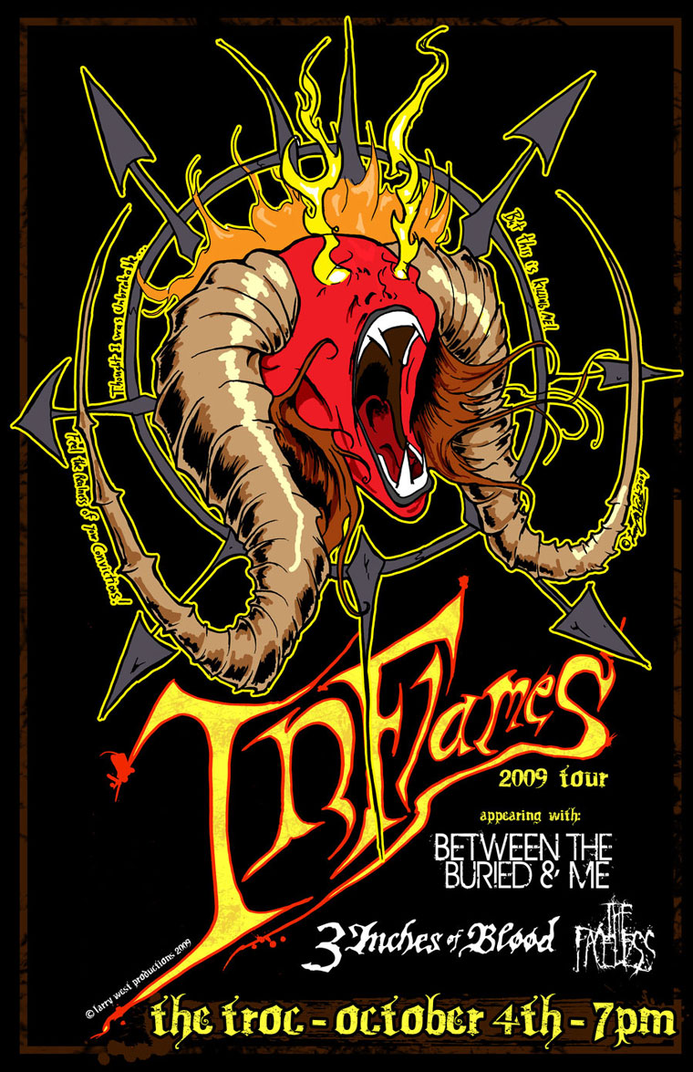 Your Life in Flames - In Flames Gig Poster