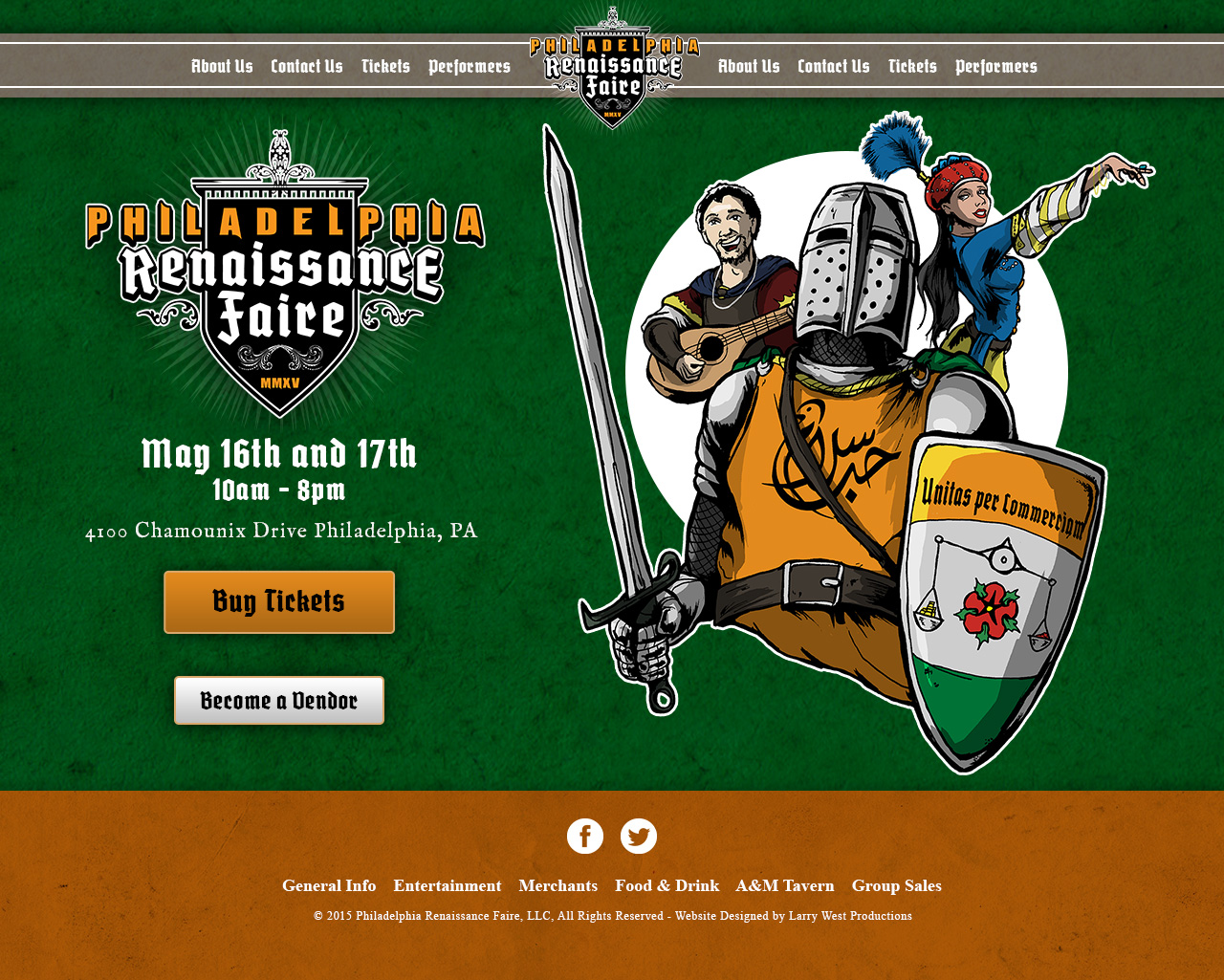 Philadelphia Renaissance Faire - Website Design